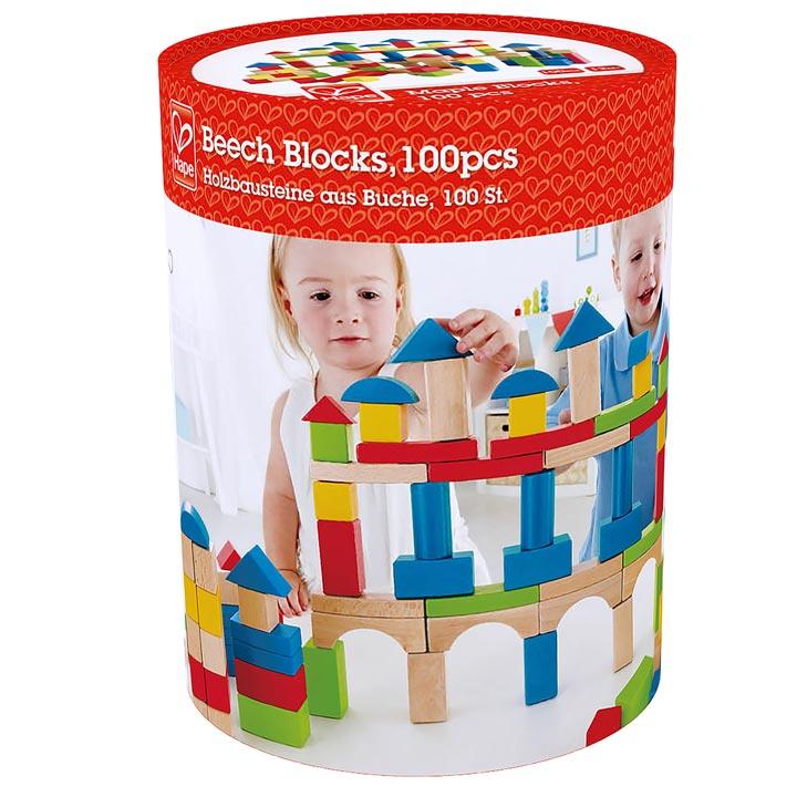 積み木(白木カラー)100 E0427A送料無料 つみき つみ木 知育玩具 おもちゃ ハペ【TC】