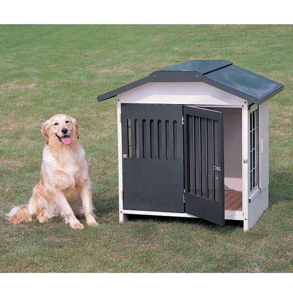 【屋外用 犬小屋 中型犬】ハイグレードスチール切妻犬舎 SLH-10 グレー【アイリスオーヤマ】【送料無料】 [cpir]