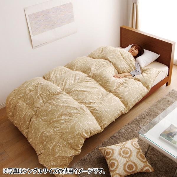アイリスオーヤマ 国産羽毛布団 FUJG-S シングル ペイズリー【送料無料】 新生活