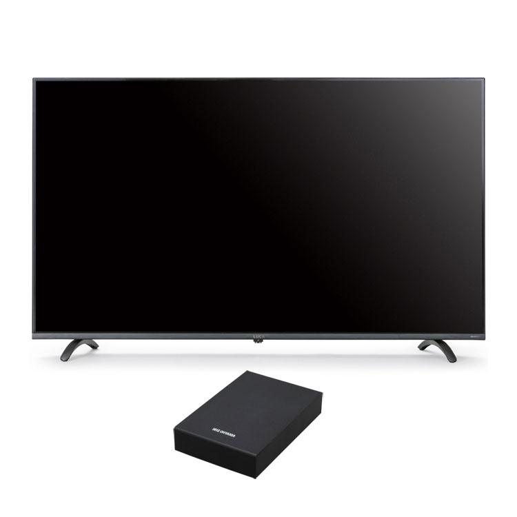 4Kテレビ 65型 音声操作 外付けHDDセット品送料無料 テレビ HDD セット TV 4K 音声操作 65型 外付け ハードディスク アイリスオーヤマ【代引不可】【日時指定不可】