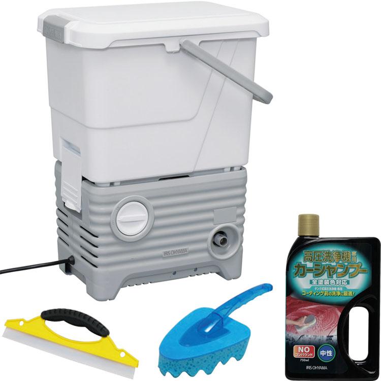 送料無料 タンク式高圧洗浄機洗車セット ホワイト SBT-512NS アイリスオーヤマ