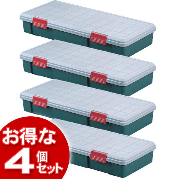 【4個セット】(工具ケース)RV BOX1150Fグレー/ダークグリーン【アイリスオーヤマ】【送料無料】