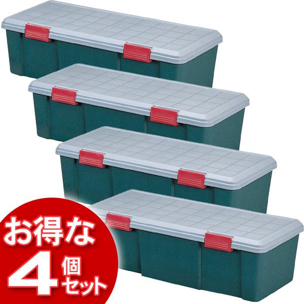 【4個セット】(工具ケース)RV BOX1150Dグレー/ダークグリーン【アイリスオーヤマ】【送料無料】 [cpir]