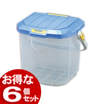 【6個セット】ウォッシュBOXWB-15Cパープル/クリア【アイリスオーヤマ】【送料無料】
