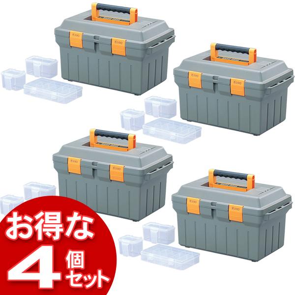 【4個セット】縦仕切りハードケース TSH-460 モスグリーン【アイリスオーヤマ】【送料無料】