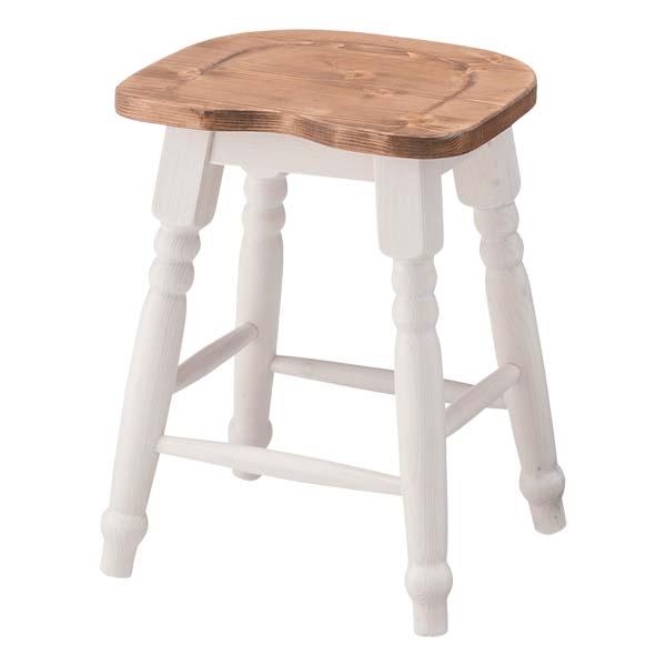 【TD】スツール CFS-213椅子 いす チェア イス 腰掛 白 木製 北欧 フレンチカントリー おしゃれ 姫系 シンプル【東谷】【取寄せ品】【送料無料】