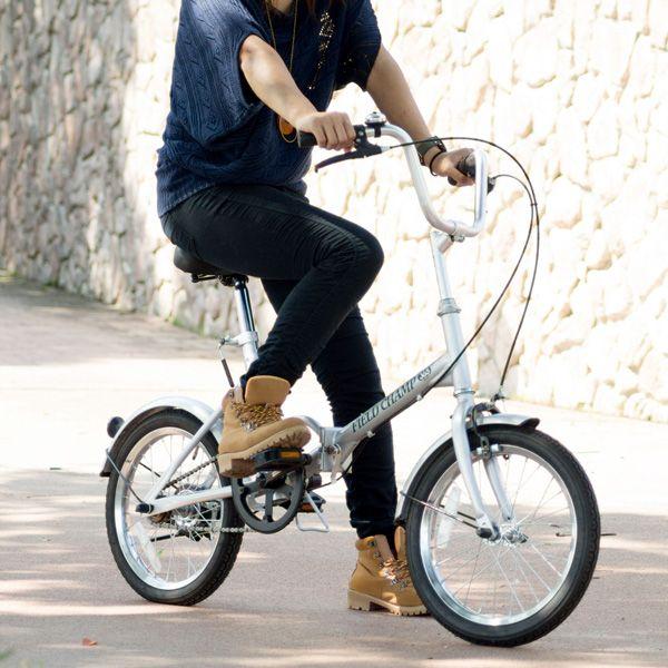 折りたたみ自転車 FIELD CHAMP365 FDB16送料無料 16インチ ミムゴ NO.72750 シルバー 【TD】【メーカー直送】【代引き不可】