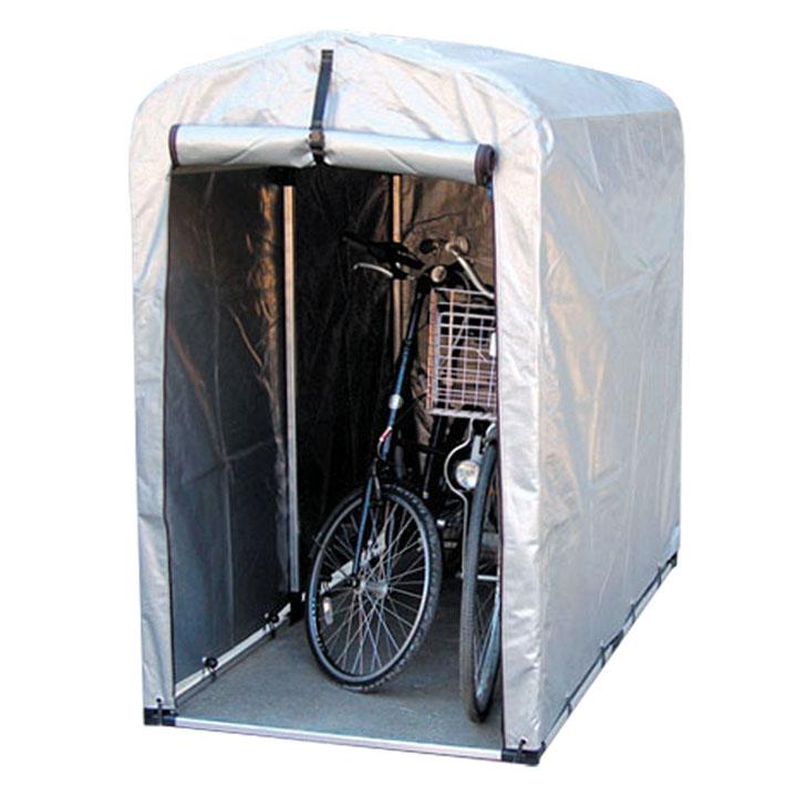 サイクルハウス スリムタイプ 厚手シート 2S-SVU送料無料 自転車 ガレージ スタンド 2台 自転車スタンド 自転車2台 ガレージスタンド スタンド自転車 2台自転車 スタンドガレージ アルミス シルバー【TD】
