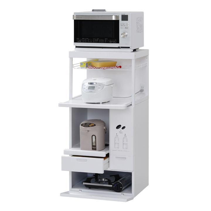 キッチンラック レンジ台(ファインキッチン) CH-306W送料無料 ラック 棚 収納 キッチンラック棚 キッチンラック収納 ラック棚 棚収納棚ラック ホワイト【D】 新生活