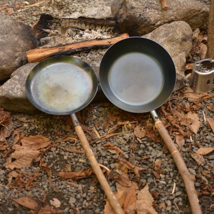 たき火フライパン 深め 10-03-orig-0006 BBQ バーベキュー アウトドア キャンプ ブッシュクラフト