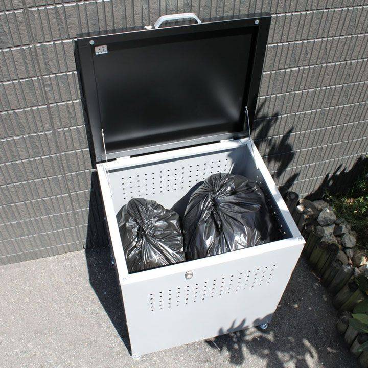 ダストボックス 60 グレー/ブラック DB-60送料無料 ゴミ箱 ストッカー 屋外 家庭用 大型 ダイマツ 【TD】 【代引不可】