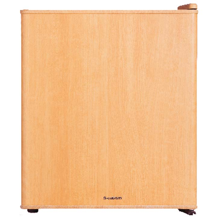 冷蔵庫 49L 1ドア インテリア冷蔵庫 49L WRH-1049LW 冷蔵庫 調理 キッチン家電 一人暮らし ドア付替え方式 単身 S-cubism ライトウッド・ダークウッド【D】【補】