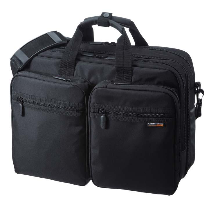 3WAYビジネスバッグ(出張用) BAG-3WAY21BK送料無料 鞄 かばん リュック PC サンワサプライ 【TD】 【代引不可】