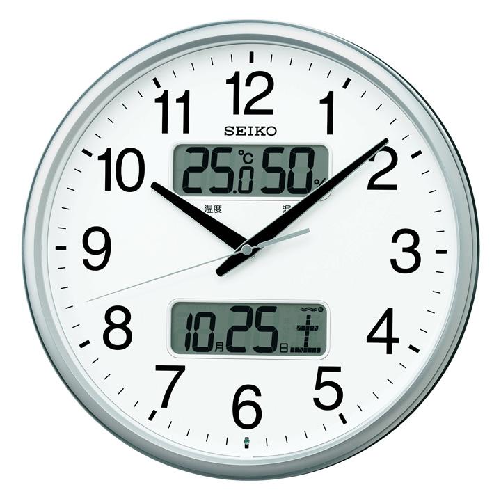 セイコー 電波掛時計 KX235S送料無料 セイコークロック seikoclock ウォールクロック 壁掛け時計 掛け時計 電波時計 アナログ時計 温度 湿度 電池 SEIKO セイコー 【D】