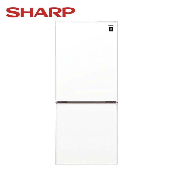 プラズマクラスター2ドア冷蔵庫137L クリアホワイト SJ-GD14D-W送料無料 冷蔵庫 一人暮らし 家電 単身 2ドア 冷凍 シンプル つけかえどっちもドア プラズマクラスター SHARP シャープ 【D】 新生活