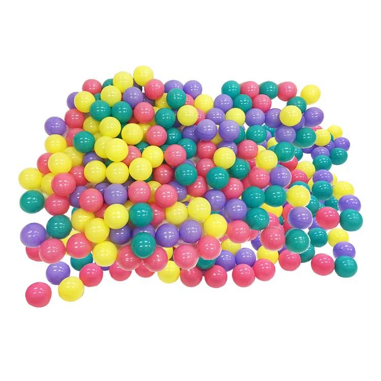 【ポイント最大12倍★15日限定】カラフルボール500球 送料無料 ボール 子供 セット ボールセット ボール遊び やわらかい 柔らかボール 大きめ 4色 永和 【D】