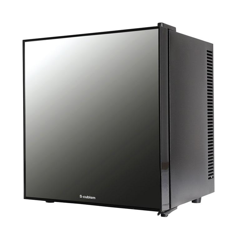 S-cubism 1ドア冷蔵庫 20L ミラーガラスドア WRH-M120送料無料 1ドア 左右開き 冷蔵庫 20L ドリンク ワインボトル 寝室 静音 おしゃれ A-Stage 【D】