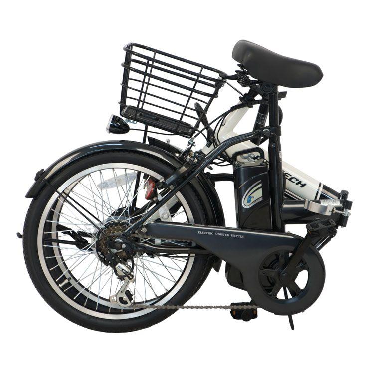 自転車折り畳み電動電動アシスト20インチサイクルPELTECH20インチ折り畳み電動アシスト自転車外装6段変速付き【簡易組立必要品】ペルテック