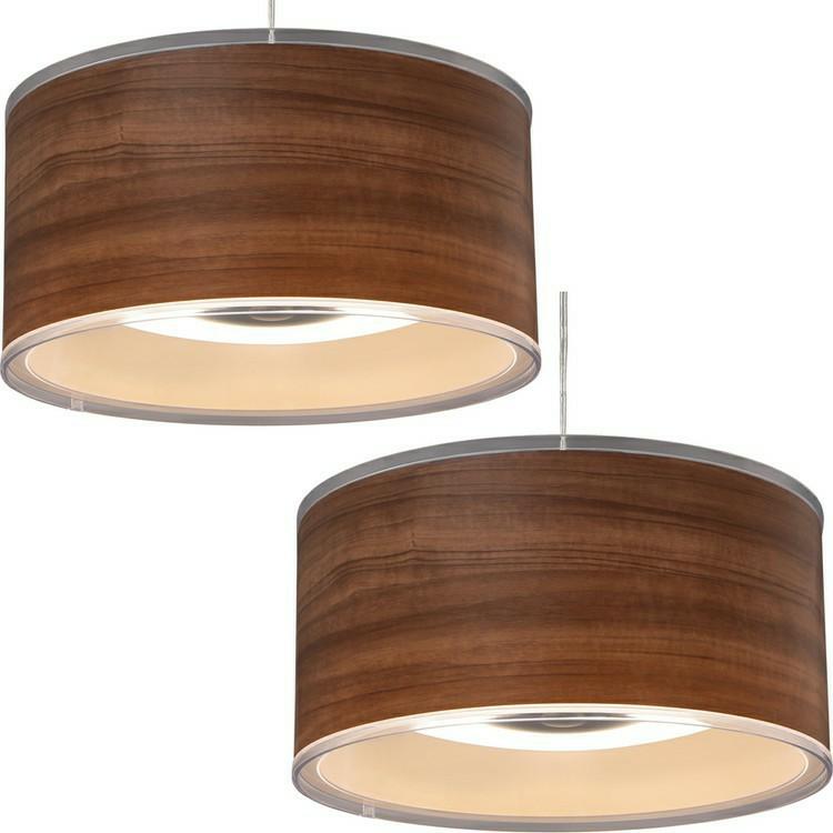 [2個セット]デザインペンダントライト 深型 6畳 調光 PLM6D-FDWN・O 木枠 木目 送料無料 LEDペンダントライト 6畳 調光 LEDシーリングライト LEDライト シーリングライト LED照明 LED 照明 アイリ