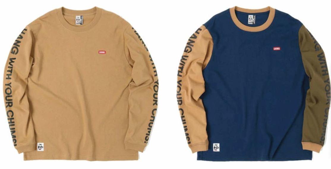 両袖のデザインが印象的なロングスリーブTシャツ CHUMS チャムス トップス カットソー 本日限定 最新 CH01-1831 HWYC HWYCロングスリーブTシャツ L S T-Shirt