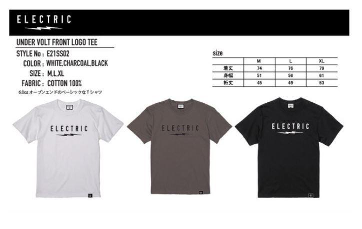 オープンエンドのベーシックなTシャツです ELECTRIC お得クーポン発行中 UNDER VOLT 半額 TEE FRONT LOGO