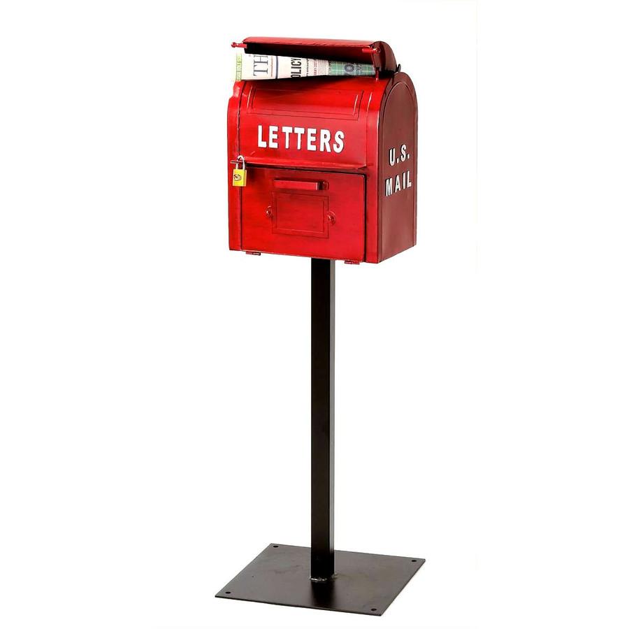 アメリカンヴィンテージUSMAILBOXレッドSI-2855-RD-3000 【商品代引きご利用不可】
