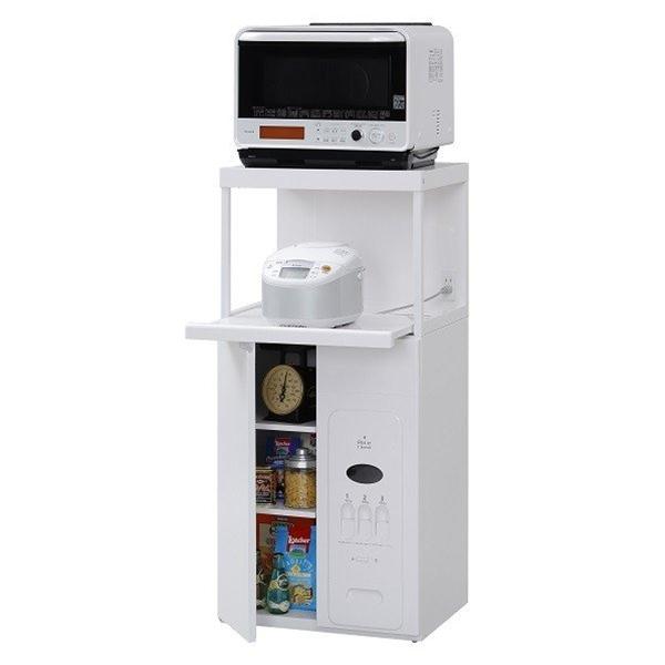 エムケー キッチン収納 レンジ台 CD-304W 米びつ容量30kg 【商品代引ご利用不可】