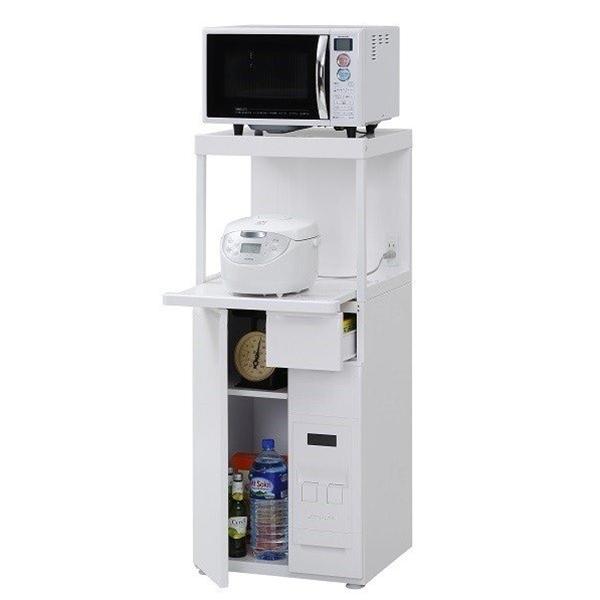 エムケー キッチン収納レンジ台 SK-311W スリム幅48cm 米びつ容量12kg 【商品代引ご利用不可】