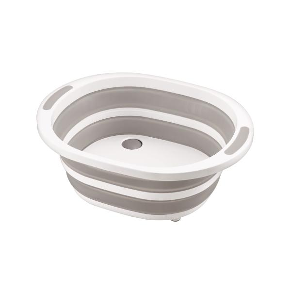 折り畳むと、高さが15.2cmから3.5cmになりコンパクトに収納できます。 Tamahashi タマハシ デイズ折り畳み式洗い桶 DS-09 【幅40×奥行31.7×高さ15.2cm】