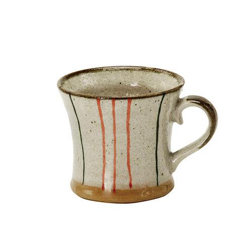 ストライプ キネ型マグカップ マグカップ 食器 和食器 陶器 和風 緑茶 おしゃれ 送料無料 一部地域を除く 美濃焼 日本茶 紅茶 かわいい お茶 コーヒー お求めやすく価格改定 ハーブティー