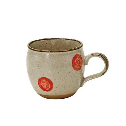くるくる 赤 しずくマグカップ マグカップ 食器 和食器 買収 陶器 和風 緑茶 おしゃれ 現品 美濃焼 紅茶 お茶 かわいい ハーブティー 日本茶 コーヒー
