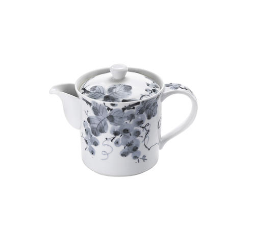 お茶の美味しさを引き出すうまちゃポット 古染ぶどう セール特価品 MHポット 小 上品