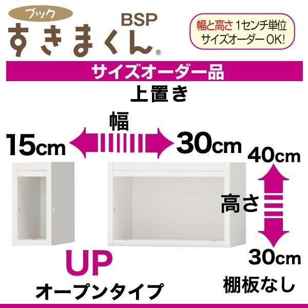 ◆国産イージーオーダー上置きすきま収納ブックすきまくん(サイズオーダー品) BSP-UP15-30幅15~30cm奥行29.4cm高さ30~40cm【送料無料】