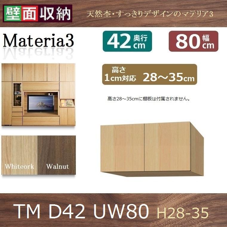 標準上置き Materia-3 TM D42 UW80-H28~35 W800×D420×H280~350mm【送料無料】棚板なし