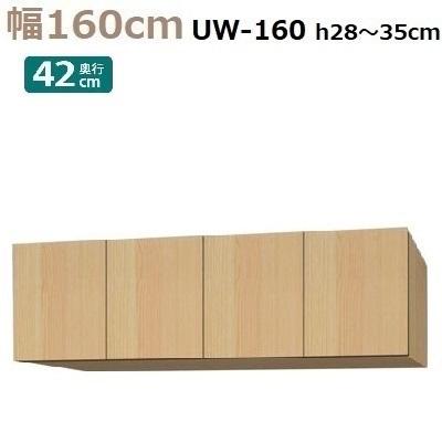 標準上置き Materia-3 TM D42 UW160-H28~35 W1600×D420×H280~350mm【送料無料】棚板なし