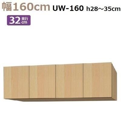 標準上置き Materia-3 TM D32 UW160-H28~35 W1600×D320×H280~350mm【送料無料】棚板なし