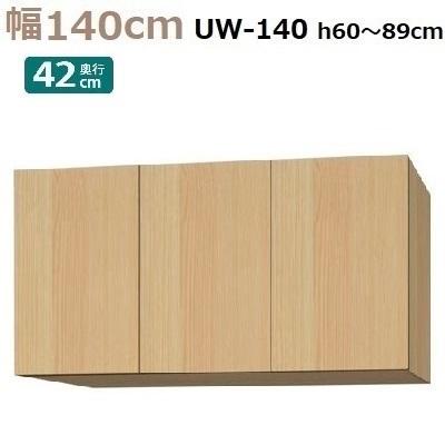 標準上置き Materia-3 TM D42 UW140-H60~89 W1400×D420×H600~890mm【送料無料】棚板6枚