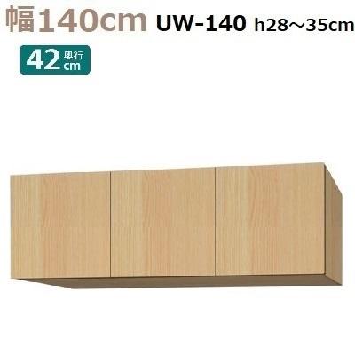 標準上置き Materia-3 TM D42 UW140-H28~35 W1400×D420×H280~350mm【送料無料】棚板なし