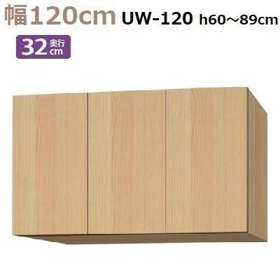 標準上置き Materia-3 TM D32 UW120-H60~89 W1200×D320×H600~890mm【送料無料】棚板大2・小2枚