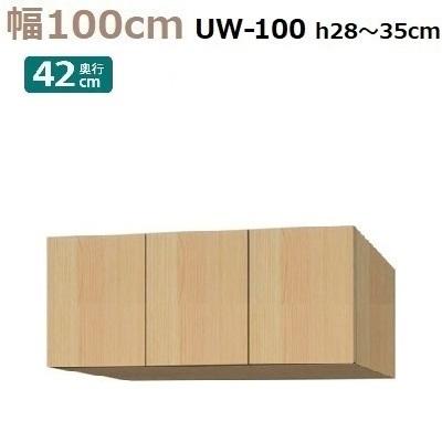 標準上置き Materia-3 TM D42 UW100-H28~35 W1000×D420×H280~350mm【送料無料】棚板なし
