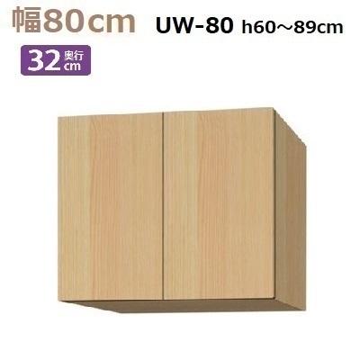 標準上置き Materia-3 TM D32 UW80-H60~89 W800×D320×H600~890mm【送料無料】棚板2枚