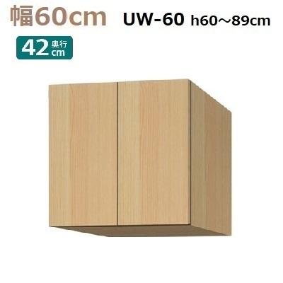 標準上置き Materia-3 TM D42 UW60-H60~89 W600×D420×H600~890mm【送料無料】棚板2枚