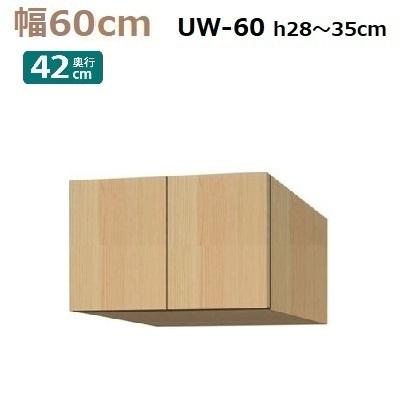 標準上置き Materia-3 TM D42 UW60-H28~35 W600×D420×H280~350mm【送料無料】棚板なし