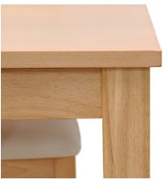 ダイニングテーブル BAN-T75(NA・DBR)W750×D750×H700mm 組み立て【送料無料】
