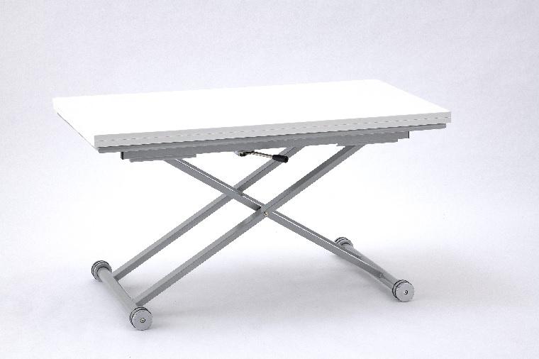 天板が2倍に広がるリフティングテーブル 昇降テーブル Newレインボー ASP-006 WH/DBR(2色対応)・W900×D450(900)×H340~760mm 【送料無料】