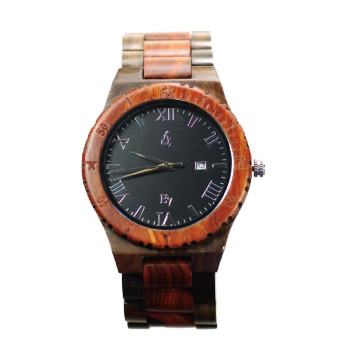 ビーンアンドバニラ HLW002-2 ブラック/レッドサンダルウッド【送料無料】(※北海道・沖縄・離島除く) - 【腕時計】【ハワイ】【時計】【ウッドウォッチ】