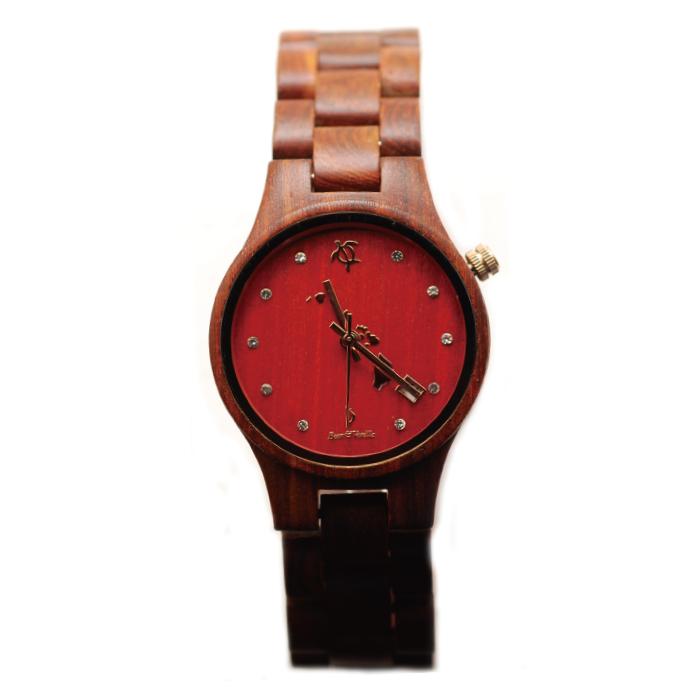 ビーンアンドバニラ YLSP482-5 レッドサンダルウッド【送料無料】(※北海道・沖縄・離島除く) - 【腕時計】【ハワイ】【時計】【ウッドウォッチ】