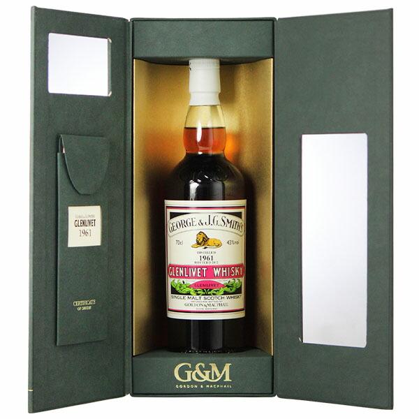 ゴードン&マクファイル G&M スミスズ グレンリベット 1961 レアビンテージ スコッチ ウイスキー スペイサイド シングルモルト 700ml 43% 【代引・後払い決済不可】