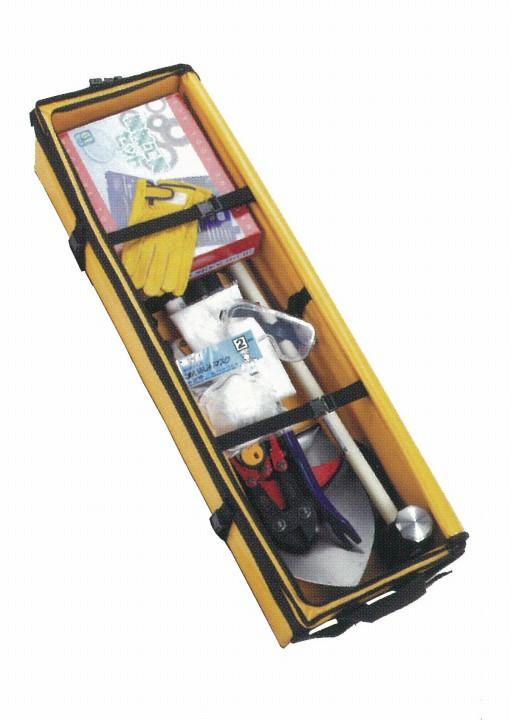 【送料無料、代引き不可】 災害救助工具袋セット FK-BIIタイプ 台車なし 大明企画 7142960(防災・災害対策/避難用)