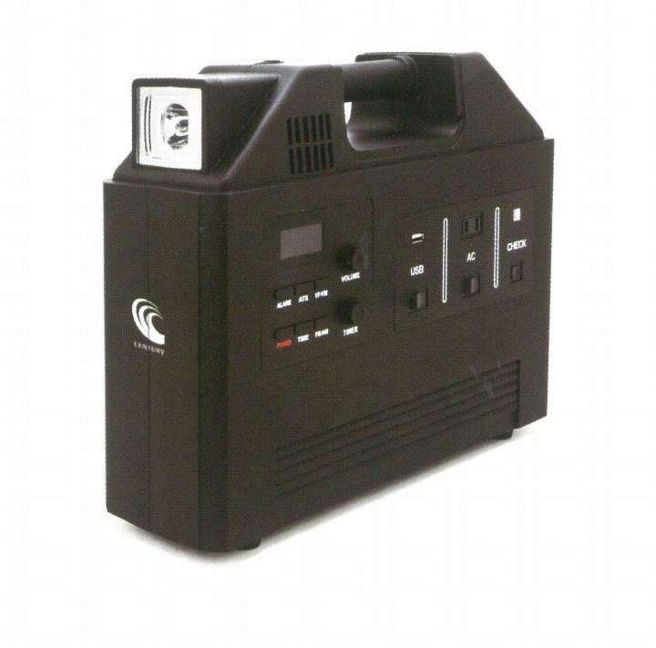 【送料無料、代引き不可】 蓄電池 ブラックアウトガード ミニ BG200 電池容量 240wh(防災/家庭用/UPS/LED/AM・FMラジオ付/レジャー)